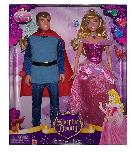 Buy Low Price Mattel Disney Sleeping Beauty Shimmer Princess and Prince Phillip Gift Set Figure (B001CYM8MG)