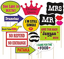 SYGA party props set of 16 Marriage or party theme paper craft item