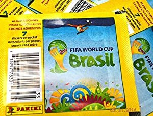 80 PACKS: 2014 Panini FIFA World Cup Soccer stickers (7 stickers per pack)