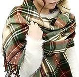 (ジーンズショップ マルカワ) Jeans shop MARUKAWA マフラー 大判 メンズ チェック ストール ユニセックス 男女兼用 冬 8color Free 柄0