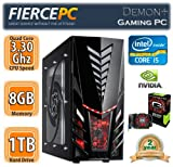 Fierce Demon+ Fast Gaming Desktop Computer PC Windows 7 | Intel Quad Core i5 3550 3.3GHz Processor, 8GB RAM, Nvidia GeForce GTX 650, 1TB Hard Drive, DVD ReWriter Drive