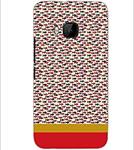 PrintDhaba Fish Pattern D-1869 Back Case Cover for HTC ONE M9S (Multi-Coloured)