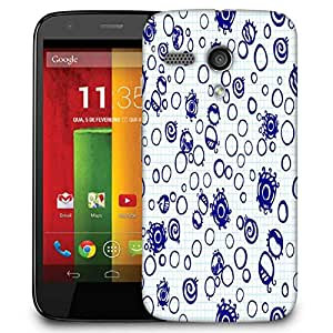Snoogg Bubbles Blue Designer Protective Phone Back Case Cover For Motorola G / Moto G