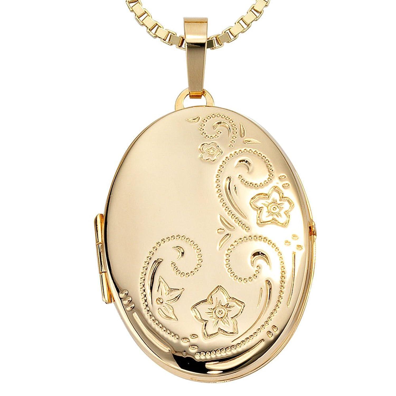 Damen Gold Medaillon 333 Gold Gelbgold schenken