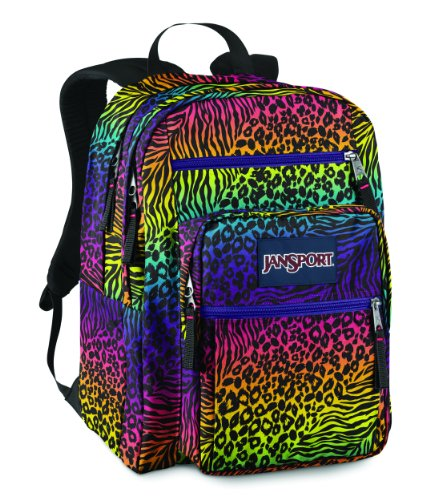 JanSport Big Student School Backpack (Black Animal Frenzy)