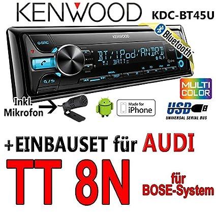 Audi tT 8N bose kenwood kDC-bT45U-bluetooth cD/mP3/uSB