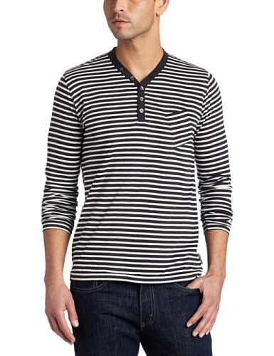 French Connection Men's Footcandle Stripe Henley