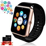 Bluetooth Smart Watch - ANCwear Smartwatch for Android Phones with SIM Card Slot Camera, Fitness Tracker Watch with Sleep Monitor, Step Counter Watch for Kids Women Men Compatible Android IOS Phones (Color: gold)