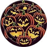 18�cm Grin, dise�o de calabaza de Halloween Platos para fiesta, pack de 8