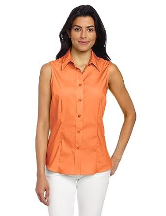 Jones new york women 39 s sleeveless button down shirt at for Sleeveless cotton button down shirts