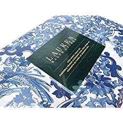 Ralph Lauren Tamarind Porcelain Blue 3pc Full Queen Duvet Cover Set