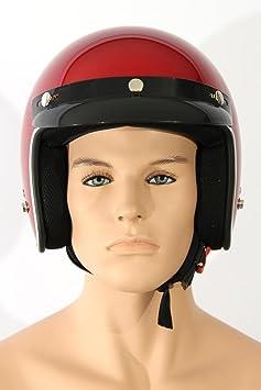 Casques de moto Jethelm TC-44 Vin rouge M ABS, Polycarbon Polystyrène