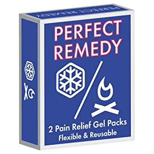Gel Ice Packs for Injuries (2 Pack) – Reusable Cold/Hot Compress for Injury, Pain Relief, Rehabilitation, Flexible Therapy for Knee, Shoulder, Back, Neck, Ankle (Tamaño: Regular)