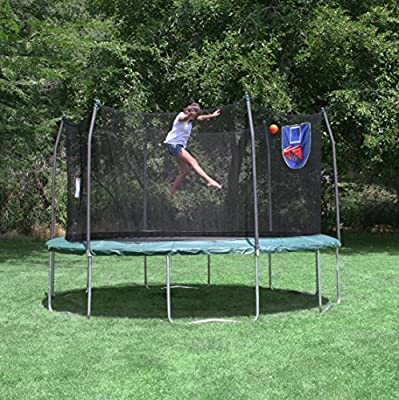 Skywalker Trampolines 15-Feet Jump N' Dunk Trampoline with Safety Enclosure and Basketball Hoop from Skywalker Trampolines