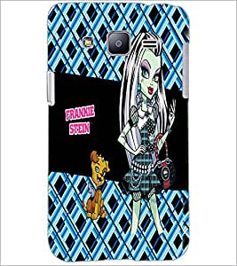 PrintDhaba Kitty and Girl D-2158 Back Case Cover for SAMSUNG GALAXY J2 (Multi-Coloured)