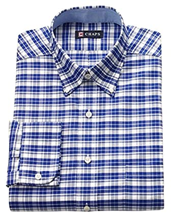 Chaps mens classic fit oxford dress shirt size x large 17 for Chaps mens dress shirts