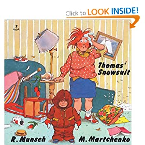 Primary junction robert munsch for Thomas snowsuit coloring page