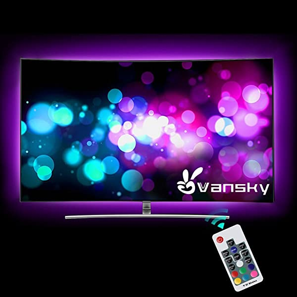 Led strip lightsvansky 66ft rgb bias lighting for 40 60 inch hdtv aloadofball Image collections