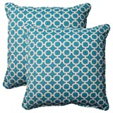 Pillow Perfect Indoor/Outdoor Hockley Corded Throw Pillow, 18.5-Inch, Teal, Set of 2