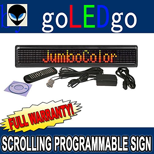 """Neoplex 3-Color Programmable 4"""" X 24"""" Scrolling Led Sign With Pc Software And Remote Access Keyboard"""