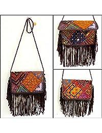 Megh Craft Women's Patchwork Banjara Style Clutch Purse - Party Handbag