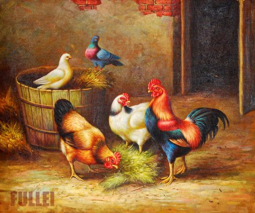 Oil Painting-Collection Oil Painting,Professional Chinese Artist Artwork-Country Farm ,Gorgeous, Elegant w/Details,Comes Size at 24″ x 36″ ,Studio Art Direct,Super Saving ,100% Satisfaction Guaranteed !