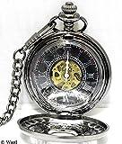 kd53 MetallicBodyとアラベスク「彫」が魅せるSTYLISHな高級感 懐中時計 機械式,手巻き アラベスク ケース付 (+kdC)
