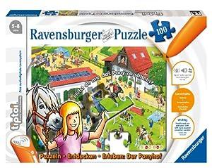 Ravensburger 00518 - tiptoi®: Puzzlen, Entdecken, Erleben - Ponyhof - 100 Teile Puzzle (ohne Stift)