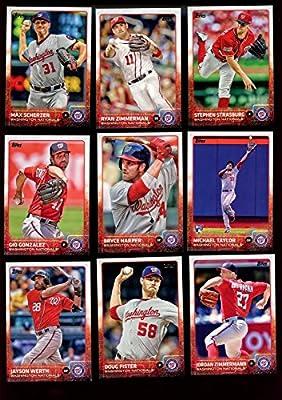 Washington Nationals 2015 Topps MLB Baseball Regular Issue Complete Mint 22 Card Team Set with Bryce Harper, Max Scherzer, Stephen Strasburg Plus