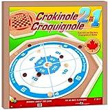 Crokinole 2-in-1 Wooden Game