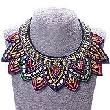 Tribal-Jewelry-Handmade-Spiky-Geometric-Triangle-Charm-Bib-Choker-Necklace-New