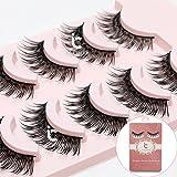 Makeup 5 Pairs Natural Long Fake Eye Lashes Handmade Thick False Eyelashes Black
