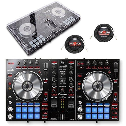 Pioneer DJ DDJ-SR Portable 2 Chanell Controller w/ Decksaver Protective Cover & 1/4 inch Cables - Bundle (Control Dj Pioneer compare prices)