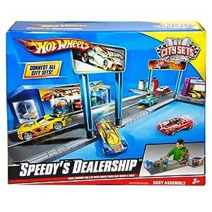 Hot Wheels Speedy Dealership Vehicle Playset