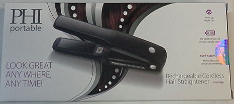 Amazon.com : PHI Portable Rechargeable Cordless Hair Straightener ...