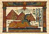 Egyptian Papyrus Painting - Sphinx - 60cm x 40cm - Genuine Papyrus Paper - Papyrus Picture