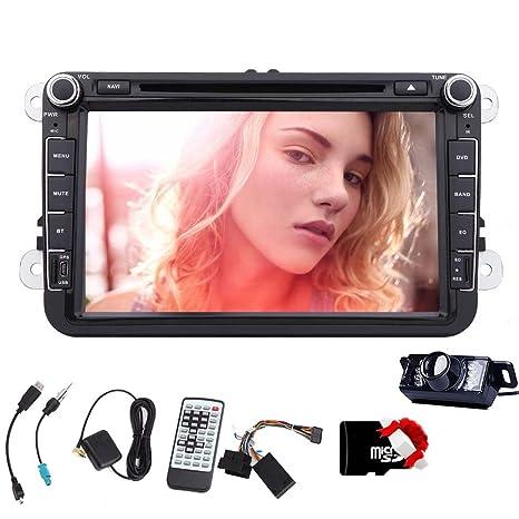 In-Dash Double-Din 8 pouces stšŠršŠo de voiture pour VW Passat Volkswagen Jetta šŠcran tactile DVD / CD / USB / SD / MP4 / MP3 Player ršŠcepteur Bluetooth en streaming mains-libres Bluetooth avec Can
