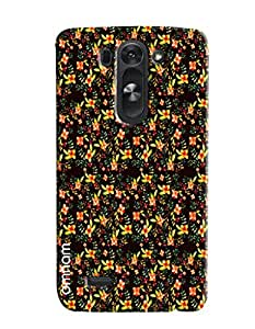 Omnam Small Yellow Flower Pattern Printed Designer Back Cover Case For LG G3 Beat