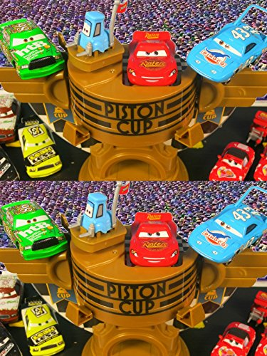 Disney Pixar Cars Ultimate Piston Cup Speedway Lightning McQueen Chick Hicks The King Races