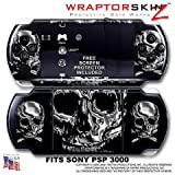 Thumbnail image for Chrome Skulls WraptorSkinz Skin and Screen Protector Kit fits Sony PSP 3000
