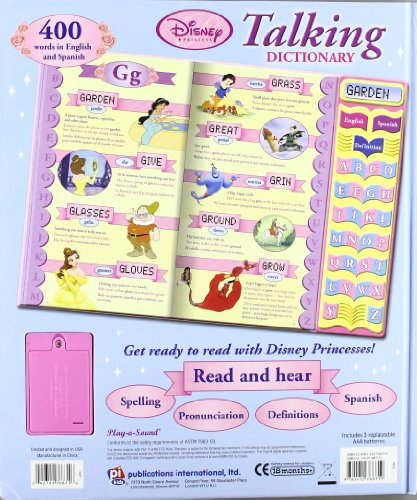 Talking dictionary disney princessbilingue español / ingles