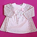 Baby Girls Elegant Clothes - 3-6 months - Gorgeous Pink FLORAL Long-Sleeved Dress
