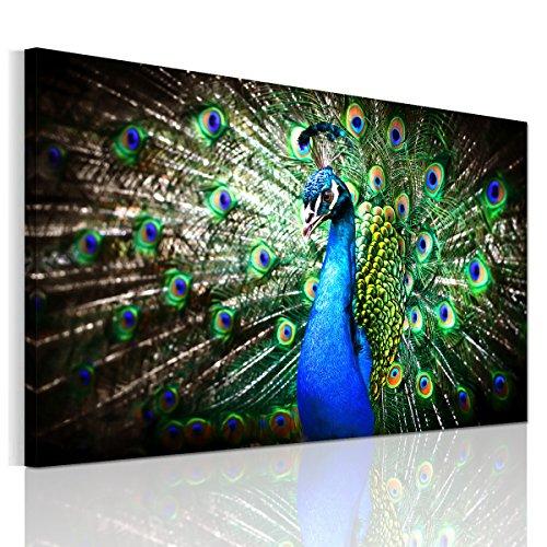 絵画 アートパネル 壁飾り 羽をひろげた孔雀 ポスター絵 インテリア おしゃれ アートフレームポスター(木枠セット)75*50cm*1