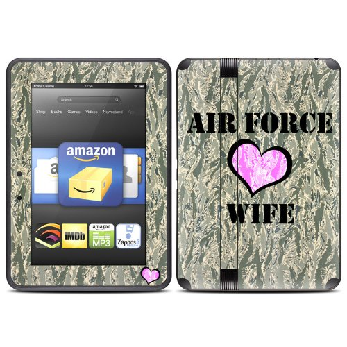 Air Force Wife Design Protective Decal Skin Sticker (High Gloss Coating) For Amazon Kindle Fire Hd 7 Inch (Released Fall 2012) Ebook Reader front-489089