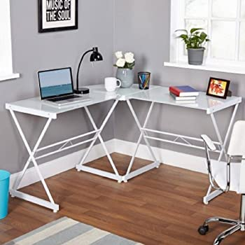 New Target Marketing Systems L Shaped Computer Desk