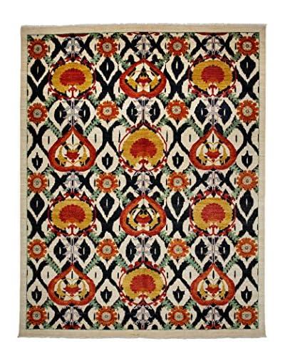 Darya Rugs Suzani Oriental Rug, Black/White, 9' 2 x 11' 6