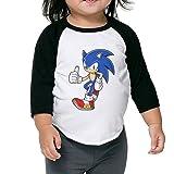 Sonic-Mania Fashion Unisex Kid's Toddler Cotton 3/4 Sleeve Raglan T-Shirts Jersey Shirt Baseball Tee 4 Toddler
