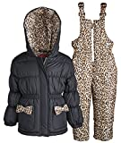 Pink Platinum Girls and Baby Down Alternative Skiing Snowsuit Jacket and Bib Set