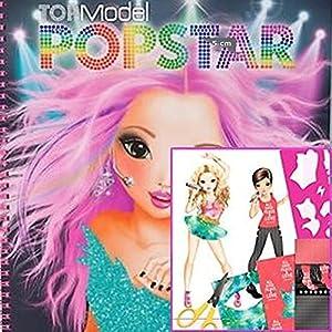 Album coloriage top model popstar jeux et jouets - Album de coloriage top model ...
