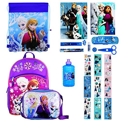 Disney Girl's Backpack with Lunchbox Set and Value Packs